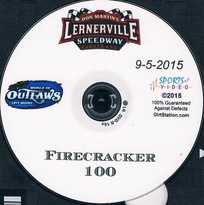 World Of Outlaws Late Models 2015 Firecracker 100 DVD From Lernerville Speedway