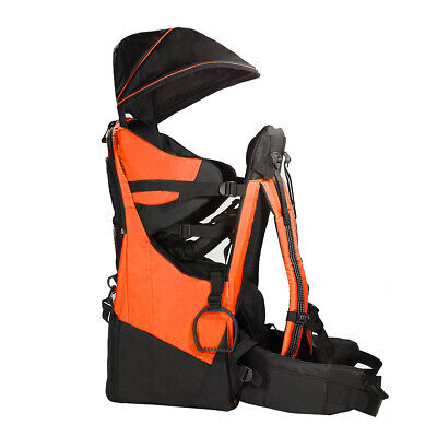 Deluxe Adjustable Baby Carrier Outdoor Lite Hiking Child Backpack Camping Orange