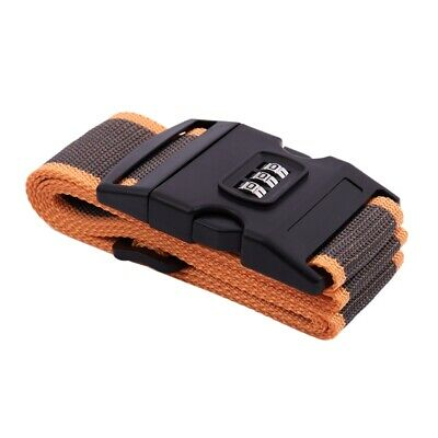 Safety belt Belt Lock Combination Travel Luggage Suitcase band color:Orange K7Y2