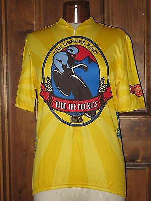 Aussie Cycling Jersey Ride the Rockies Denver Post Colorado Cycling Tour  Large 9652fd2c8
