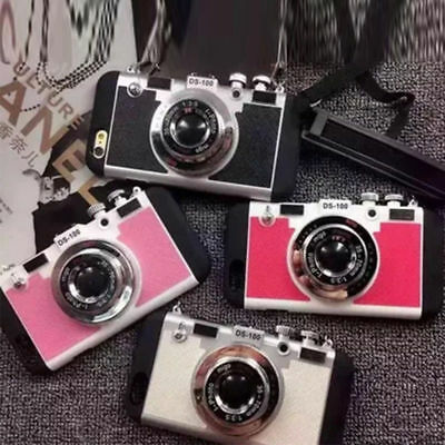 Retro 3D Camera Shockproof Back Phone Case Cover For iPhone X 8 6S 7 Plus 5S