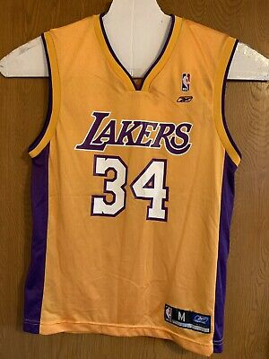 db41d1915aa Vintage Reebok Los Angeles Lakers #34 Shaquille