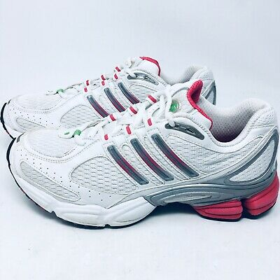 competitive price ef2fd 5fded Adidas Supernova Running Shoes Sneakers Womens Sz 8.5 M White Pink