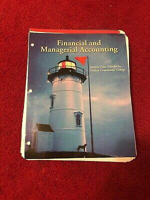 Financial And Managerial Accounting Book For Sinclair Community College