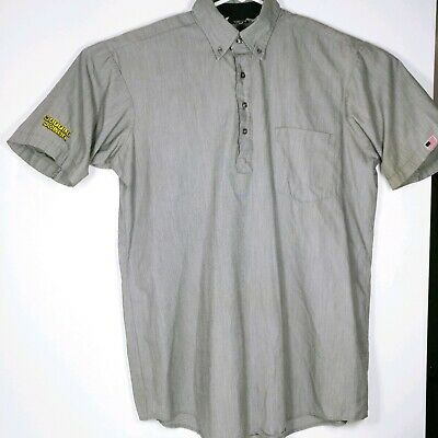 6215a7d5 Waffle House Employee Work Uniform Collared button up men's Size Large Grey  USA