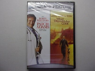 Double Feature   Patch Adams    What Dreams May Come    New DVD sealed