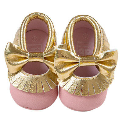 ROMIRUS Baby Moccasins Soft Bottom Butterfly-knot Baby Shoes Tassels Baby P N4Q9