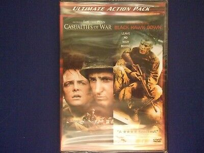 Ultimate Action Pack   Casualties of War / Black Hawk Down   New DVD sealed
