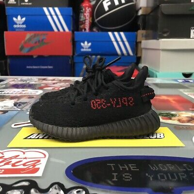 78a235b509444 ADIDAS YEEZY BOOST 350 V2 Bred Infant Size 6k Pre Owned Used ...