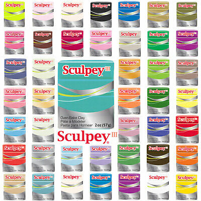Sculpey III Polymer Clay – Choose From 44 Colours (57g Blocks) Sold Per Block