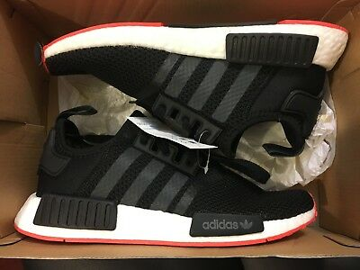 newest 3b5bb 05d57 New Adidas Nmd R1 Bred Black Red Originals Running Shoe Cq2413 Size Men 9