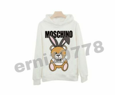 2019 HOT Unisex NEW  Moschino  teddy bear Hoodie Sweater Women's Coat