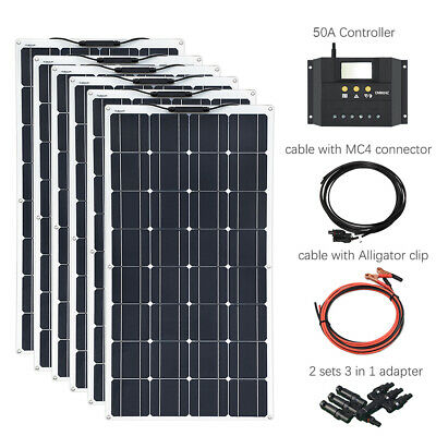 600w flexible Photovoltaic Solar Panel Kits+50A controller for RV Motorhome Boat
