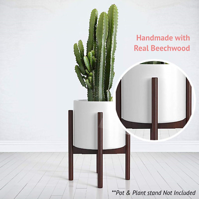 Mid Century Plant Stand Adjule Modern Indoor Holder