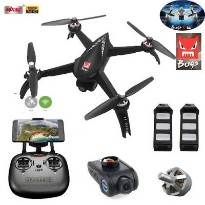 FPV MJX Bugs 5W 1080P Camera 5G WIFI RC Drone GPS RC Drone Quadcopter 2 Batterie