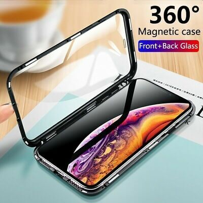 Magnetic Absorption 360 Protective Case Cover For iPhone X Xs Max XR 6 7 8 Plus