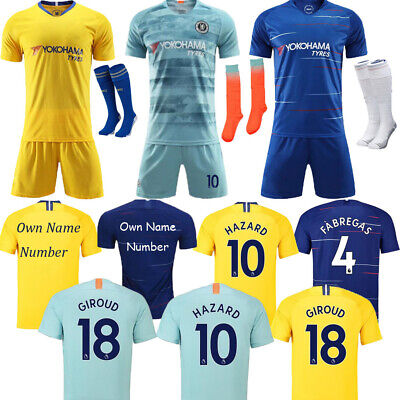 2019 Football Kits Strips Soccer Jerseys Short Sleeve Suits For Kids 3-14Yrs