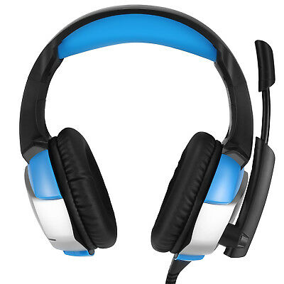 K5 3.5mm Gaming Headset Mic LED Stereo Headphone For PC Mac Laptop PS4 Xbox One