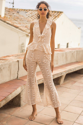 3bed39a0a12 Runaway The Label Lover Halterneck Lace Cream   White Jumpsuit S ...