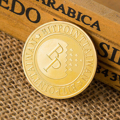 Bitcoin Gold plated Coin Collectible Challenge Coin Commemorative Art Gifts BH