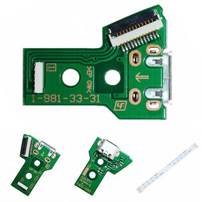 Controller Micro USB Charging Circuit Board JDS-040 12-Pin Cable Port for PS4