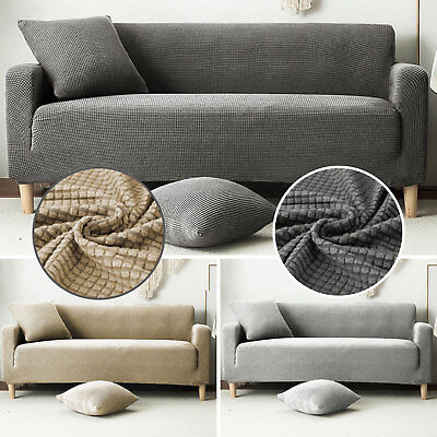 1/2/3 Sofa Covers Couch Slipcover Stretch Elastic Fabric Settee Protector New UK