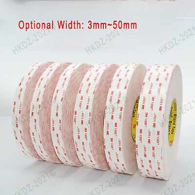 3M4930VHB White Double-sided Acrylic Foam Adhesive Tape Length 33m, 0.64mm Thick