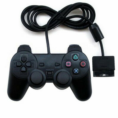 New Black Dual Shock Wired Controller Joypad Gamepad for PS2 PlayStation 2