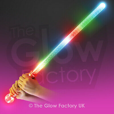 Flashing Mega Sword With Ball Handle - Holographic Light up LED Sword Toy lot