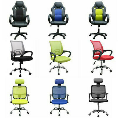 Adjustable Office Swivel Computer Chair Racing Seat Gaming Recliner Armchair