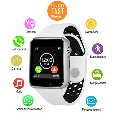967af03b281a5 NEW Relojes inteligentes Bluetooth Smartwatch camara para iPhone Samsung ios