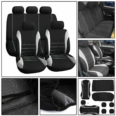 Grey Car Seat Covers Protectors Universal Washable Dog Pet Full Set Front Rear