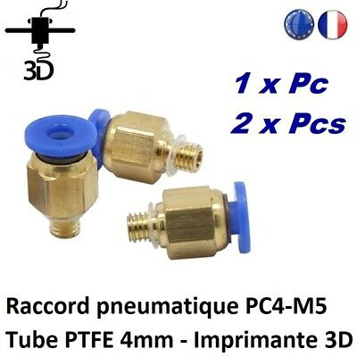 Raccord pneumatique PC4-M5 Tube PTFE 4mm Filament 1,75mm Imprimante 3D printer