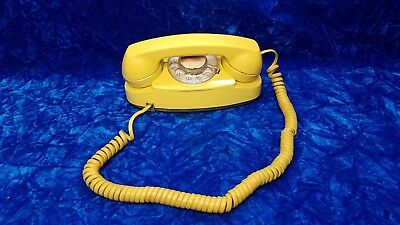 Rotary Phone Vintage Yellow Princess 1970s Western Electric Bell System