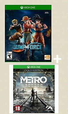 METRO EXODUS GOLD EDITION + JUMP FORCE for xbox one - No cd-- READ DESCRIPTION