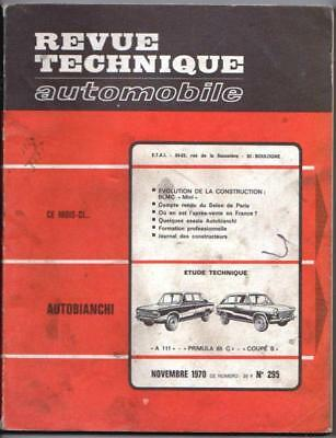 Revue technique automobile n°295 - novembre 1970 - Autobianchi