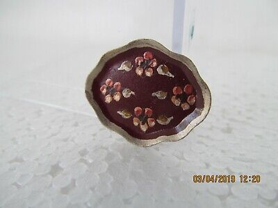 """Dollhouse Mini 1"""" Scale  Handpainted Toll Tray"""