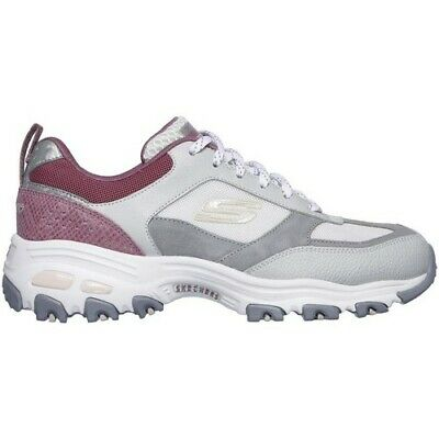 Skechers - D'Lites-Fan Love - Sneakers Donna - Pink/White/Grey - 13140 GYPK