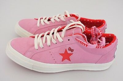 2243a44facc055 Hello Kitty x Converse One Star Low OX Prism Pink Suede Men 9.5 Wmn 11.5  162939C
