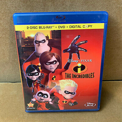 The Incredibles (Blu-ray + DVD, 2011, 4-Disc Set) Disney Pixar