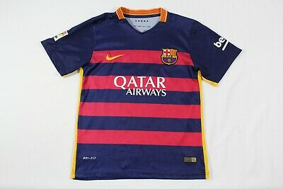 0a284b10ed2 Neymar Jr Nike FC Barcelona Soccer Futbol Jersey Authentic 2015 Youth Size  28