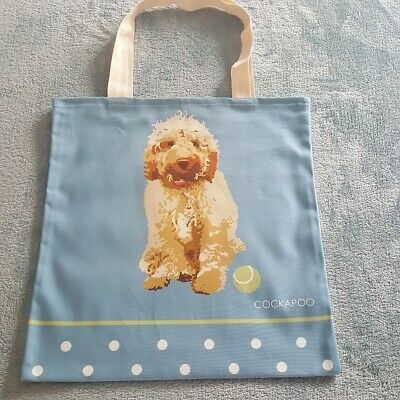 Cream Cockapoo Tote Bag By Betty Boyns Great Gift For Cockapoo Fans