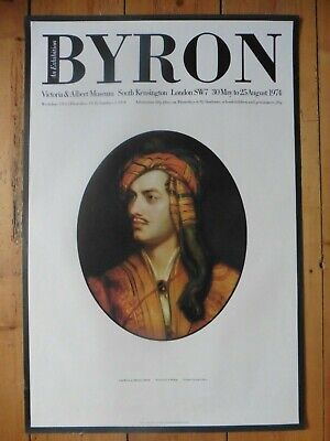Original Poster Lord Byron Exhibition 1974