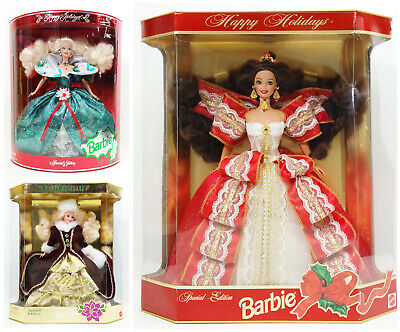 Barbie Special Edition Happy Holiday Dolls Lot Of 3 NRFB (2)