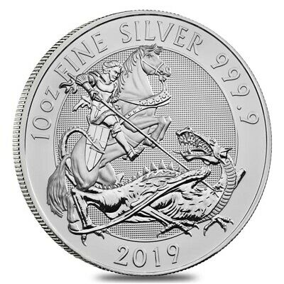 2019 Great Britain 10 oz Silver Valiant Coin In Cap .9999 Fine BU