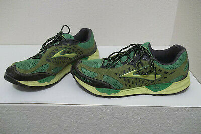 99a85dca9f4d8 Mens Brooks Cascadia 7 Trail Running Sneakers Shoes Green Yellow Black Size  13