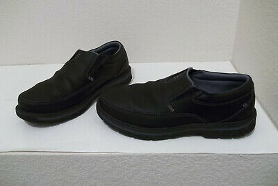 15951384 Men Skechers Segment The Search Relaxed Fit Memory Foam Black Loafers Shoes  9.5