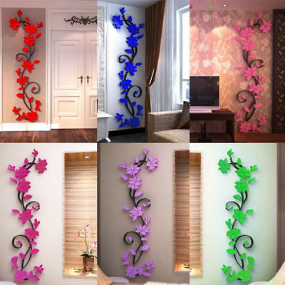 5bfdfe69d US 3D Flower Decal Vinyl Decor Art Removable Mural Family Room Wall Sticker  WDS