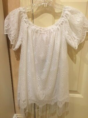 970c496f9fa0d LUCY PARIS BLOOMINGDALES Lace Off The Shoulder Top White XS NWT ...