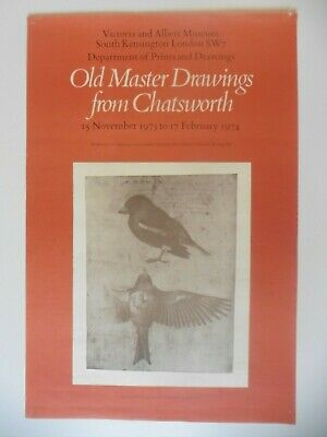 Original Poster Old Master Drawings from Chatsworth 1974